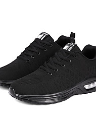 cheap -Men's Novelty Shoes Knit / Tissage Volant Spring & Summer / Fall & Winter Sporty / Preppy Athletic Shoes Running Shoes / Walking Shoes Breathable Black / Black / Red / Dark Blue