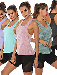 cheap -Women's Sleeveless Workout Tank Top Running Tank Top Running Singlet Racerback Vest / Gilet Winter Cotton Lightweight Breathable Yoga Fitness Gym Workout Running Sportswear Solid Colored Amethyst