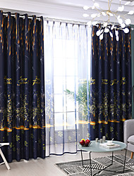 cheap -Two Panel American Country Style Deer Star Print Blackout Curtain Living Room Bedroom Children's Room Curtain