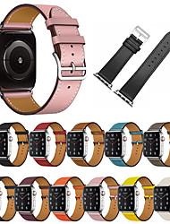 abordables -bracelet en cuir véritable montre pomme pour iwatch série 5 4 3 2 1 38/42/40 / 44mm