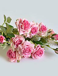Недорогие -роза курчавая роза искусственный цветок свадебные украшения роза поддельные цветок