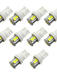 Недорогие -10 шт. T10 Автомобиль Лампы 1 W SMD 2835 200 lm 7 Светодиодная лампа Подсветка для номерного знака / Рабочее освещение / Задний свет Назначение Универсальный Avenger / Elysee / 9-5
