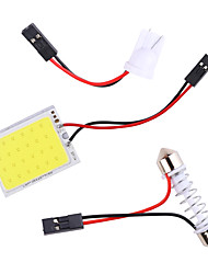 cheap -Big Promotion T10 COB 24 36 48SMD Festoon Dome BA9S 3 Adapters LED Light Panel Car Interior Reading Map Parking Bulb Lamp DC12V