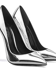 cheap -Women's Heels Stiletto Heel Pointed Toe Patent Leather Spring &  Fall Red / Silver