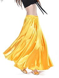 cheap -Belly Dance Bottoms Women's Training / Performance Satin Wave-like Natural Skirts