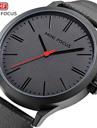 cheap -MINI FOCUS Men's Dress Watch Quartz Formal Style Modern Style Genuine Leather Black / Blue 30 m Water Resistant / Waterproof New Design Casual Watch Analog Classic Fashion - Black Yellow Blue