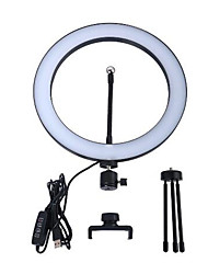 cheap -LED Selfie Ring Light 26CM Dimmable Camera Phone Ring Lamp 10inch With Table Tripods For Makeup Video Live Studio