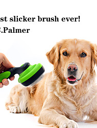 cheap -Dog Grooming Cleaning Stainless steel ABS+PC Comb Washable Ergonomic Design Pet Grooming Supplies Green One-piece Suit