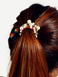 cheap -Women's Ladies Trendy Fashion Imitation Pearl Alloy Pearl Hair Jewelry Sports New Year