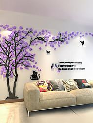 abordables -3d couple gauche arbre acrylique stickers muraux salon chambre décoration
