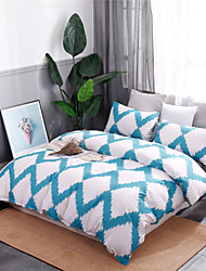 cheap -Duvet Cover Sets Ultra Soft Blue&White Geometric Pattern/ Polyester/ Polyamide Printed 3 PieceBedding Sets