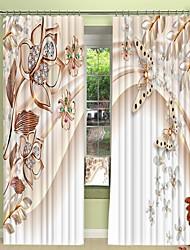 abordables -trois dimensions en métal papillon impression numérique 3d rideau rideau d'ombrage haute précision noir tissu de soie rideau de haute qualité