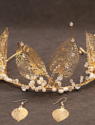 cheap -Pearl / Alloy Tiaras with Pearl 3 Pieces Wedding Headpiece