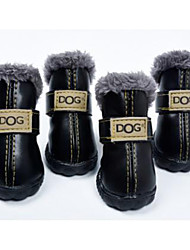 cheap -Dog Boots / Shoes Winter Dog Clothes Black Rose Costume Cosplay XS S M L XL