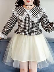 cheap -Kids Girls' Check Dress Black