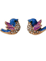 cheap -Women's Blue Earrings Classic Bird Artistic Asian Sweet Elegant French Earrings Jewelry Gold For Wedding Party Engagement Daily Festival 1 Pair