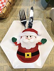 Недорогие -наборы столовых приборов рождественские украшения творческий мультфильм отель столовые приборы наборы санта столовые приборы сумки 1 шт.