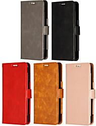 Недорогие -Кейс для Назначение SSamsung Galaxy Note 9 / Note 8 / Note 5 Бумажник для карт / Флип / Магнитный Чехол Однотонный Кожа PU / ТПУ