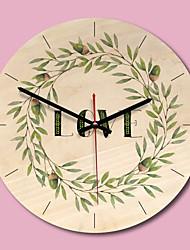 cheap -M.Sparkling Wall Clock Wooden Beautiful Frameless Garland Simple Art Modern Design Watch Wall Kitchen Clocks Unique