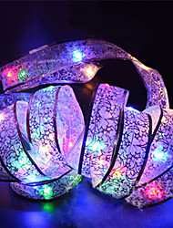 cheap -1pcs 4m Led Christmas Holiday Light Battery-Powered Led Silk String Lights for Home Garden Party Decoration Lamp with 40 Led Bulbs