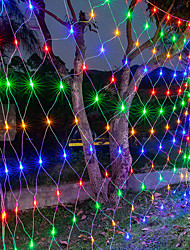 cheap -AC220V Led Flexible Net String Light For Wedding Xmas Garland Decor Colorful Lighting 1.5M*1.5M 96Led High Brightness Led EU Plug