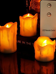 cheap -Flameless Candles Tea Light Halloween Night Light Creative Home Decoration Staycation AA Batteries Powered 3pcs