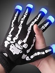 cheap -2pcs LED Flashing Light Glove Finger Tip Lighting Festive Party Supplies Luminous Great Gloves