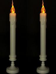 Недорогие -2шт 2 х 2,5 х 11,4 дюйма свечи беспламенного желтого цвета с батарейным питанием Creative 5 В