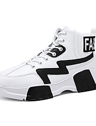 cheap -Men's Comfort Shoes PU Fall Athletic Shoes Basketball Shoes Black / White