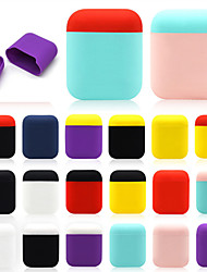 cheap -Applicable Airpods Protective Cover Earphone Protection Non-Slip Silicone Two-Color Storage Box Iphone Wireless Bluetooth Headset Storage Box 1Pc
