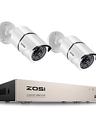 cheap -ZOSI Home Surveillance System 4CH DVR Kit HD 1080P CCTV System 2pcs 2MP Outdoor Video Surveillance Camera Set Home Security