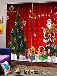 abordables -rideau haute blackout Noël cerf imprimé maison chambre personnalisable