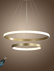 cheap -1-Light LED50W Circle Chandlier Aluminum Gold Painted for Living Room Bedroom Office Cafes Bar Warm White / White / Dimmable With Remote Control