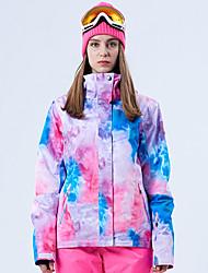 cheap -GSOU SNOW Women's Ski Jacket Skiing Snowboarding Winter Sports Waterproof Windproof Ski POLY Top Ski Wear