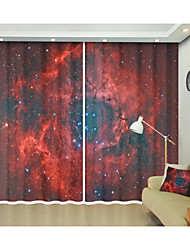 cheap -3D Magic Space Red Nebula 3D Digital Printed Curtain Creative Shade Curtain High Precision Black Silk Fabric High Quality First-class Shade Bedroom Living Room
