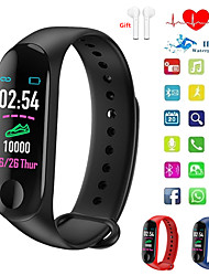 cheap -Indear QW-M3 Men Women Smart Bracelet Smartwatch Android iOS Bluetooth Touch Screen Heart Rate Monitor Blood Pressure Measurement Sports Calories Burned Pedometer Call Reminder Activity Tracker Sleep