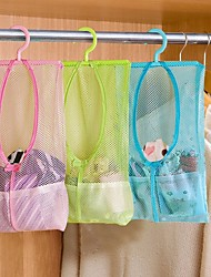cheap -3pcs Bathroom Baby Toys Bag Multifunctional Hanging Storage Mesh Bags  Eco-Friendly Mesh Child Kids Bath Baskets
