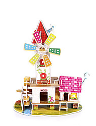 abordables -Puzzles 3D Kit de Maquette Maquettes de Bois Maison Amusement Bois 1 pcs Classique Enfant Jouet Cadeau