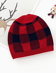cheap -Toddler Girls' Houndstooth Hats & Caps White / Red / Green One-Size