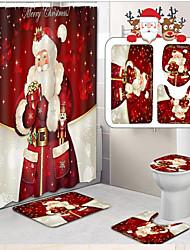 cheap -1 set Casual / Modern Bathtub Mats / Bath Mats / Bath Rugs Nonwoven / Memory Foam / Coral Velve Abstract 5mm Bathroom Non-Slip / New Design