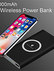 cheap -10000mAh Universal Portable Power Bank Qi Wireless Charger For iPhone Samsung S6 S7 S8 Powerbank Mobile Phone Wireless Charger