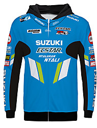 cheap -SUZUKI Spring / Fall / Winter Polyster Warmer Breathable fast dry Racing Jersey Motorcycle Jersey Clothes Jacket for Unisex