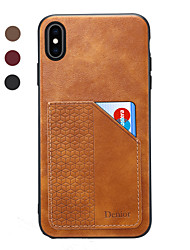 cheap -Denior Wallet Case  For iPhone 11 Pro Max / iPhone XR PU Leather Slim Credit Card Back Cover For Apple iPhone XS / iPhone 7 / iPhone 8 / iPhone 11