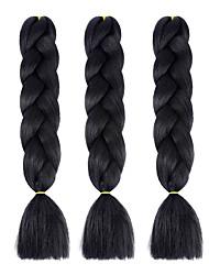 cheap -Braiding Hair Straight Twist Braids Jumbo Crochet Hair Braids Synthetic Hair 3 pack Hair Braids 61cm(Approx24inch) Ombre Braiding Hair Dreadlock Extensions Crochet Braids Daily Festival African Braids