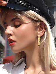 cheap -Women's Ear Piercing Drop Earrings Hoop Earrings Tassel Vertical / Gold bar Statement Trendy Fashion S925 Sterling Silver Earrings Jewelry Gold For Graduation Gift Daily Carnival Festival 1 Pair