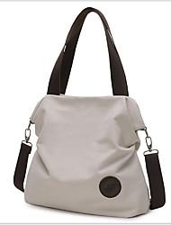 Χαμηλού Κόστους -Γυναικεία Καμβάς Σταυρωτή τσάντα Συμπαγές Χρώμα Μαύρο / Καφέ / Θαλασσί