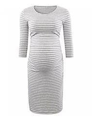 cheap -Women's Bodycon Dress - Solid Colored Gray S M L XL