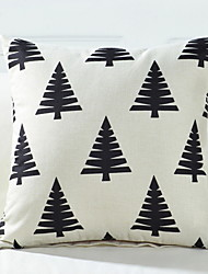 Недорогие -1 шт. Хлопка / льняная наволочка, рождественская подушка
