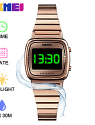 cheap -SKMEI Smartwatch Digital Modern Style Sporty 30 m Water Resistant / Waterproof LCD Casual Watch Digital Casual Fashion - Black Rose Gold Black / Rose Gold
