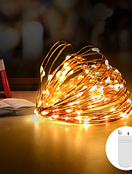 cheap -1pcs 2m 20 Leds Waterproof Graland LED String Cooper Wire Fairy Light Outdoor String Lights CR2032 Battery Christmas Tree Wedding Party Decoration